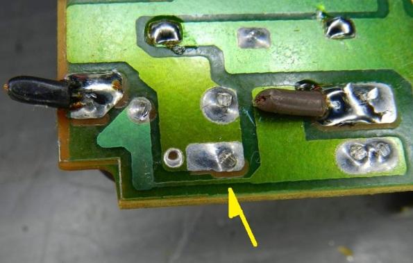 Figura 83 – Fusível impresso em reator eletrônico I.