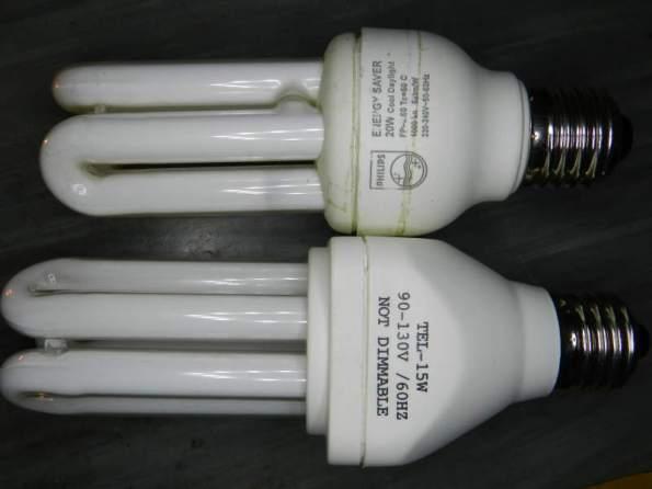 Figura 90 – Lâmpadas compactas – comparação.