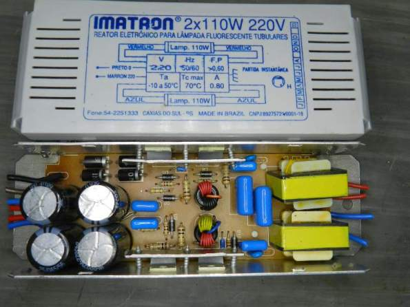 Figura 98 - Reator duplo Imatron 2x110W .