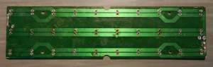 Figura 9 – Placa de LEDs limpa, pronta para a modificação, lado do cobre.