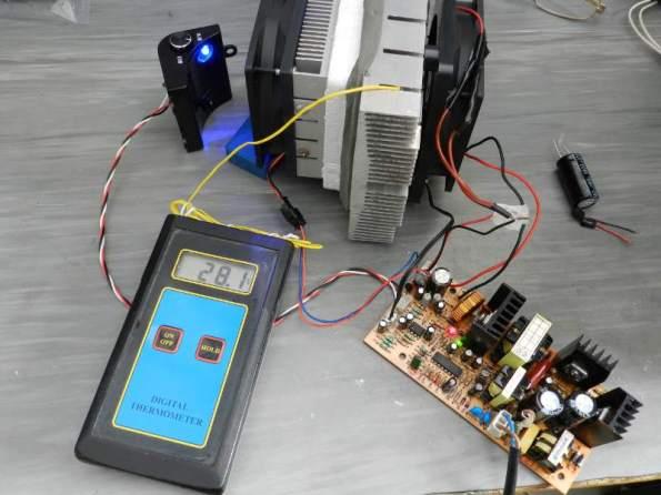 Figura 18 – Placa com a eletrônica de controle da adega eletrônica.