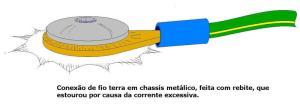 Figura 13 – Desenho do terminal de aterramento rebitado ao chassis da estufa.