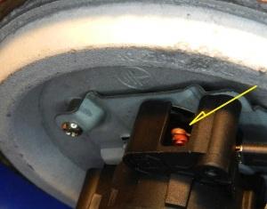 Figura 7 – Vista dos contatos de um dos pólos do termostato.