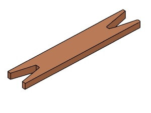 Figura 17 – O futuro carretel, em madeira...