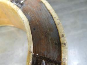 Figura 4 – Núcleo de transformador toroidal usado, visto bem de perto.
