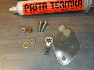 Figura 41 – Componentes para montagem dos transistores TO-3.