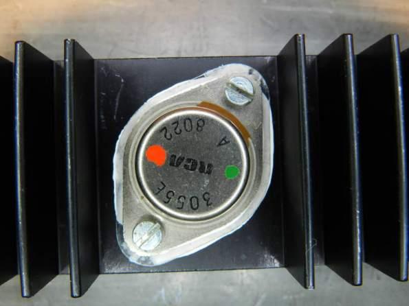 Figura 54 - Aparência do transistor montado.