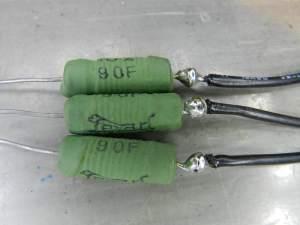 Figura 62 – Resistores de emissor com o fio soldado.
