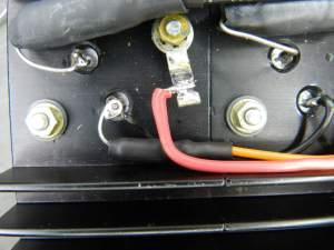 Figura 66 – Detalhe dos resistores de emissor montados no módulo de potência.