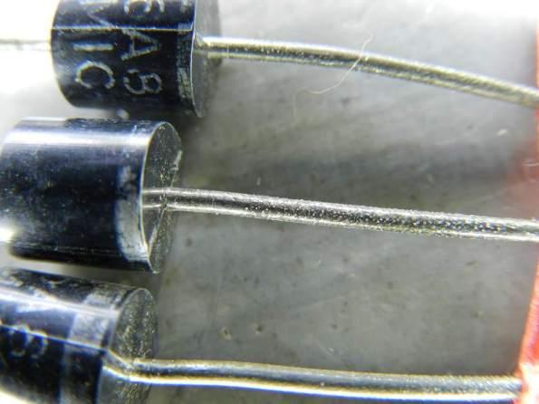 Figura 88 – Diodos 6A8 antes da limpeza.