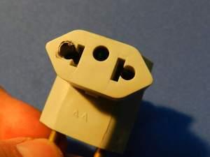Figura 16 – T comercial, já exposto a sobrecarga. É perigoso utilizar um item neste estado.