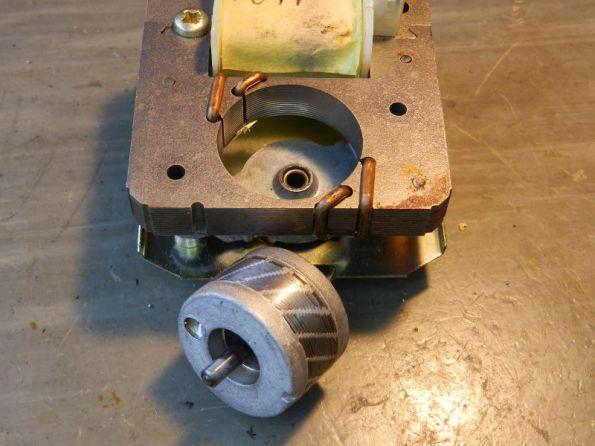 Figura 54 – Rotor e estator do motor de 2 polos sombreados, em detalhe.