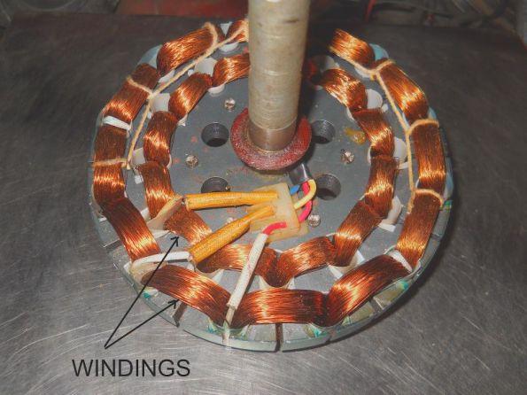 Figura 79 – Estator de 12 polos de ventilador de teto. Fonte: Wonder Whats Inside [117].
