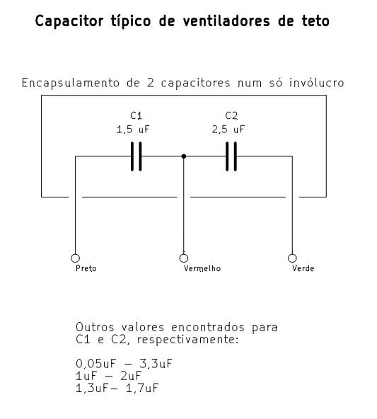 Figura 86 – Ligação interna de um capacitor duplo.