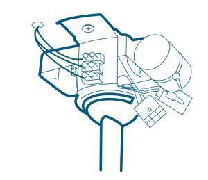 Figura 95 – Montagem do módulo de controle remoto em ventilador nacional.
