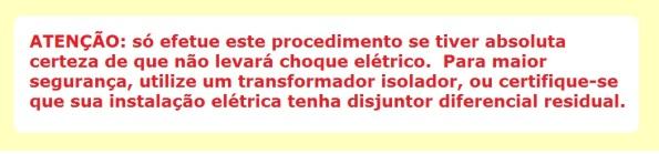 AVISO DE PERIGO ELÉTRICO
