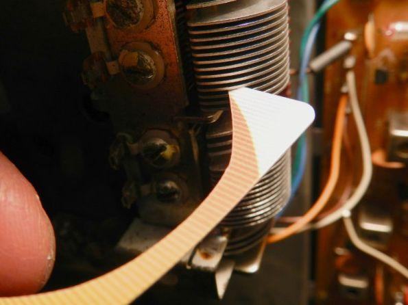 Figura 17 - Cartão de visitas de PVC, utilizado como ferramenta de limpeza.