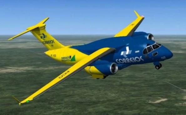Figura 2 – Ilustração de um possível KC-390 para os Correios. Fonte: Jr. Lucariny [3]