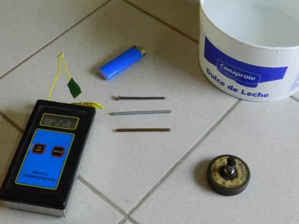 Figura 30 – Materiais utilizados para o experimento de condutividade térmica.
