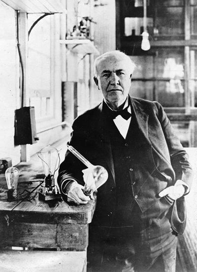 "Figura 44 – Thomas Alva Edison, ""O mago de Menlo Park"". Fonte: Menlo Park Museum [131]."