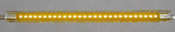 Figura 6 – Filamento LED ligado a 5% da corrente nominal. Fonte: Wikimedia Commons [21].