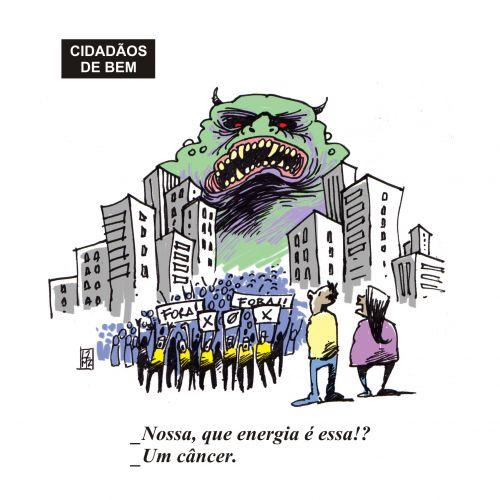 Figura 1 – Cartum gentilmente cedido pelo cartunista LAZ MUNIZ. Fonte: Brazil Cartoon [1].