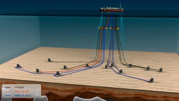 Figura 8 – Plataforma de extração do Pré-Sal com navio-plataforma (FPSO). Fonte: Jornal GGN [7].