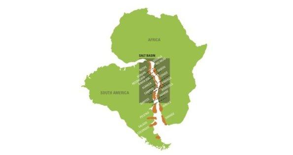 Figura 1 – Semelhanças entre os continentes africano e sul-americano. Fonte: The Africa Report [1].