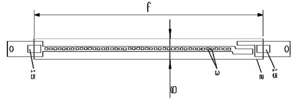 Figura 107 – Desenho do filamento LED da YunSun. Fonte: YunSun [98].
