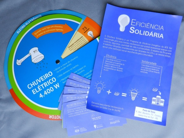 Figura 117 – Material de divulgação do Programa AES Sul de Eficiência Solidária.