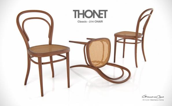 Figura 130 – Cadeira Thonet 214. Fonte: GianCR [410].