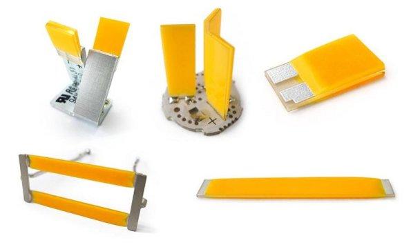 Figura 72 – Filamentos chatos, cuja ligação é feita numa extremidade somente. Fonte: LEDiamond [201].