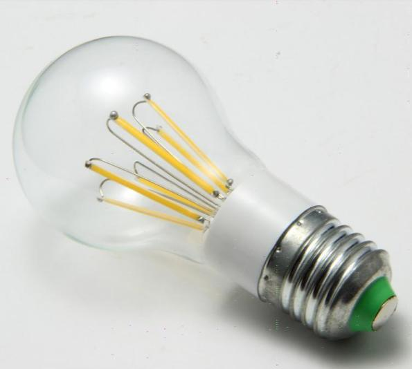 Figura 78 – Lâmpada de filamento LED, sem o suporte interno central, de vidro.