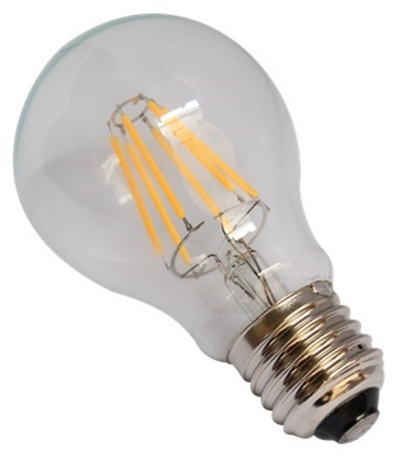 Figura 79 – Lâmpada de filamento LED, com as conexões circulares.
