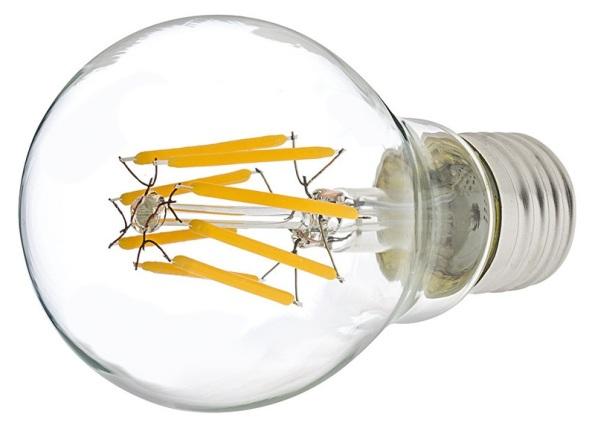 Figura 80 – Lâmpada de filamento LED, com os filamentos inclinados lateralmente.