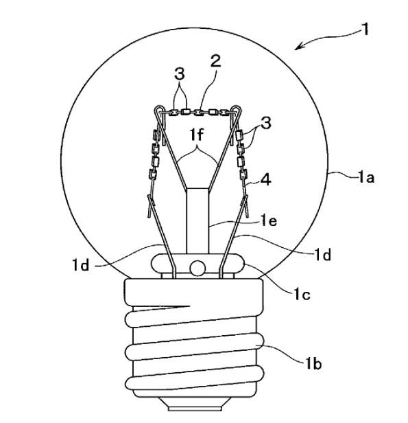 Figura 88– Um dos modelos de bulbo projetados pela patente US20040008525. Fonte: Google Patents [259].