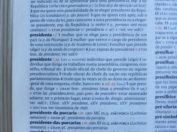 Foto de verbetes do Dicionário Houaiss da língua portuguesa, 1ª edição, 2001, Editora Objetiva