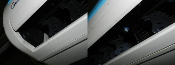 Figura 2 – Encaixes da parte esquerda da aleta.