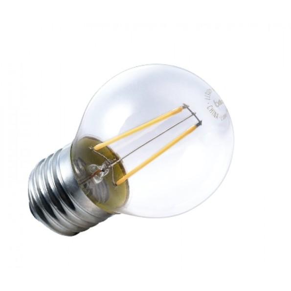 Figura 6 – Lâmpada de filamento LED Brilia de 2W, modelo mini-globo 433607, também certificada pelo INMETRO. Fonte: André Iluminação [6].
