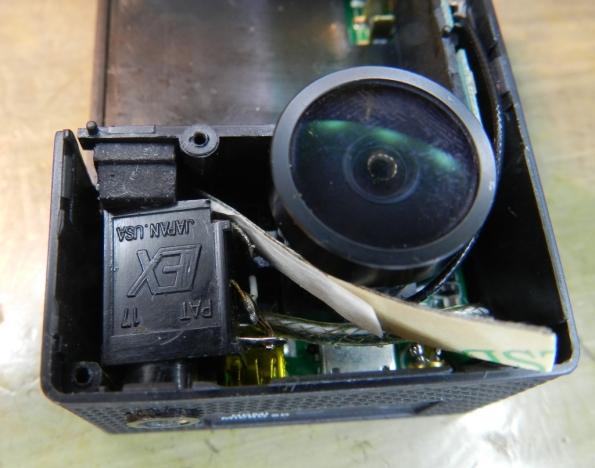 Figura 21 – Calço inserido na câmera.