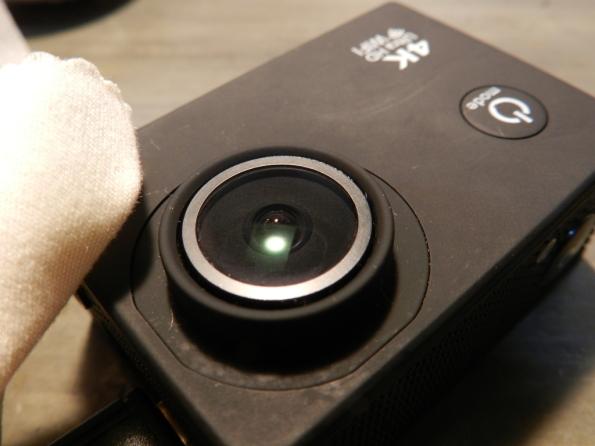 Figura 32 – Aparência da lente, após passar o lenço de limpeza para óculos.