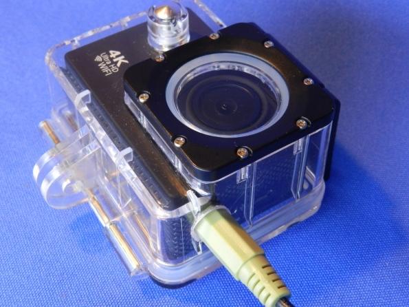 Figura 38 – Aparência do plugue P2 conectado à câmera.