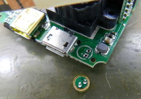 Figura 5 – Cápsula do microfone, removida da placa.