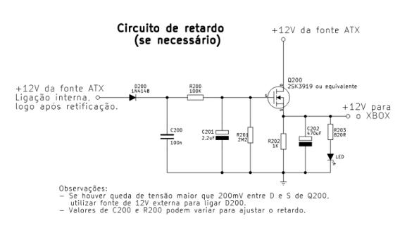 Figura 20 – Circuito de acionamento com retardo