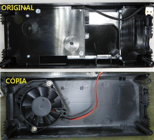 Figura 6 – Vista interna das ventoinhas, a de cima é a original.