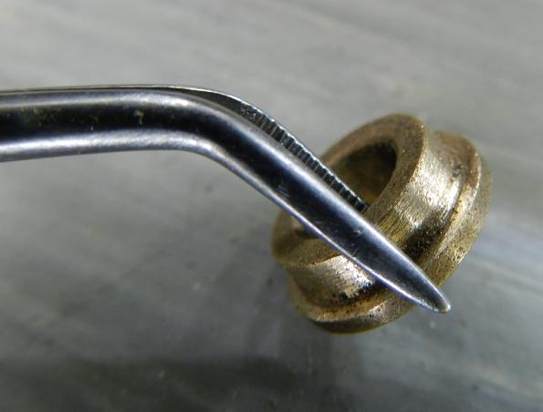 Figura 10 – Bucha limada para encaixar na haste deslizante.
