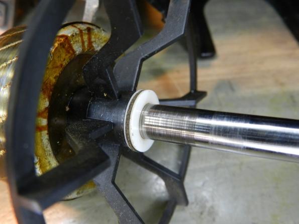 Figura 39 – Rotor após a limpeza, com as arruelas.