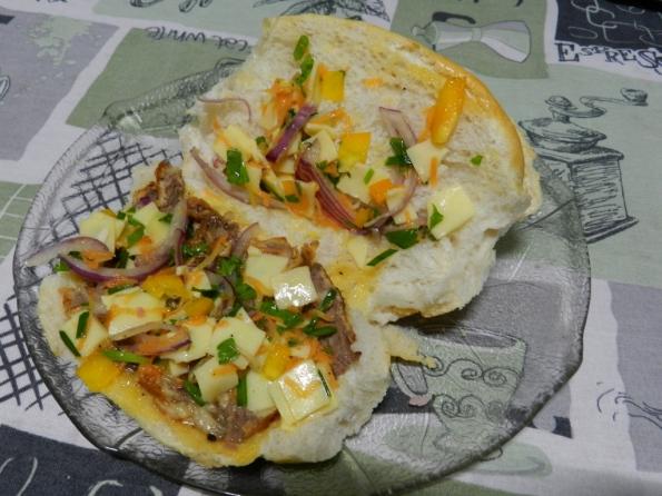 Figura 50 – Primeira camada de recheio do sanduíche.