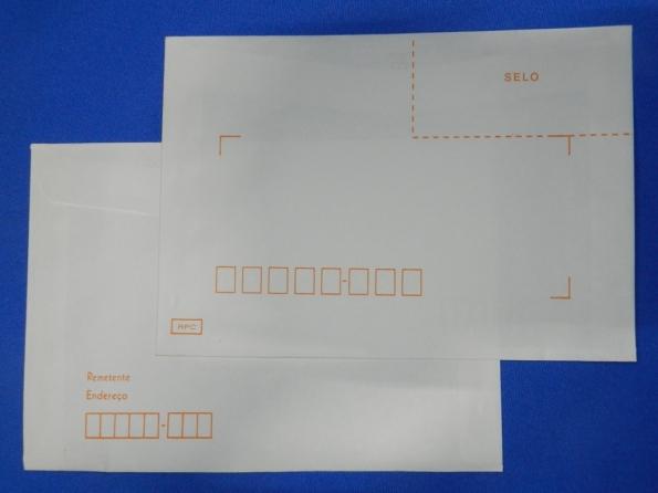 Figura 1 – Envelopes tipo RPC (Recomendado Pelos Correios