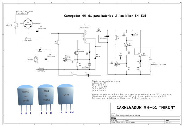 Figura 8 – Esquema do carregador de baterias MH-61. Clique para ampliar em nova aba.